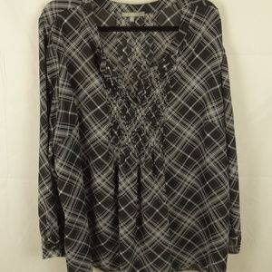 NY Collection Long Sleeve Shirt Top Plus Size 3X